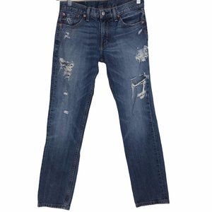 511 Levi's Destroyed Distressed Jeans Straight Leg
